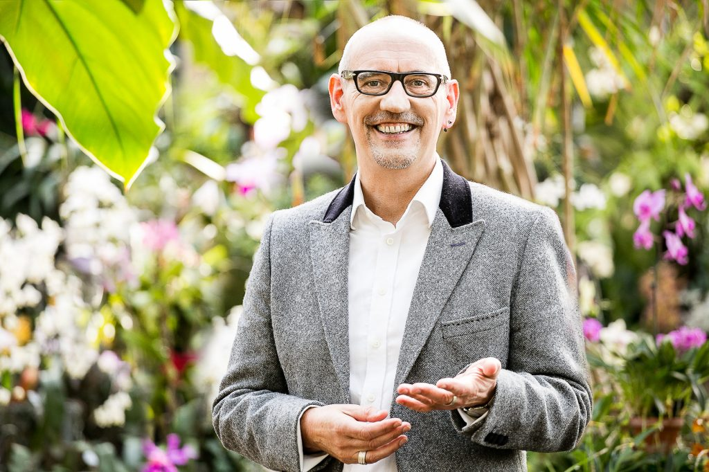 Businessportrait im Orchideenhaus in Hannover